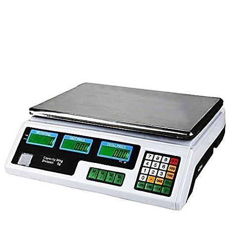 DIGITAL PRICE COMPUTING SCALES 30KG FRUIT VEG SHOP RETAIL WEIGHT /& PRICE SCALE