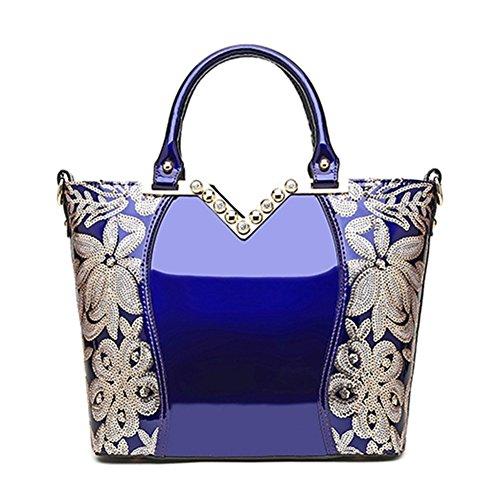 HOBOP JHB700045 Fashion PU Leather Korean Version Women's Handbag,Square Cross-Section Diana Package (C4)