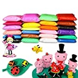 BBLIKE 24 Colours Polymer Clay Air Dry Modeling Clay Soft Moulding Craft Plasticine Alternative, Sculpture Tool set Modelling Moulding Tool set Never Dry Out