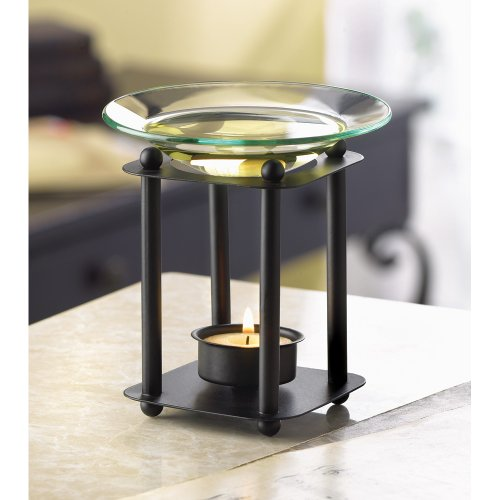 Fragrance Foundry Essential Oil Warmer, Oil Warmer Candle Holder, Elegant Modern-art Oil Warmer