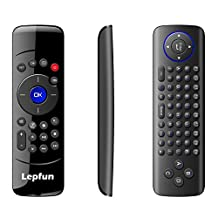 Lepfun C2 mini Rechargeable Wireless Mouse Keyboard Combo with Air Control Infrared Remote Learning for Android Box ,Media Player,Smart Tv and Mac
