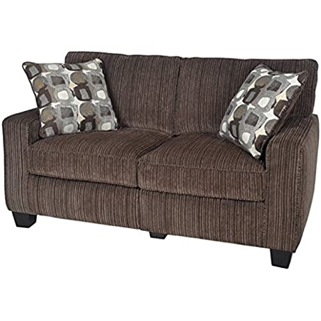 Bowery Hill Loveseat In Riverfront Brown