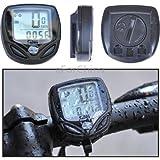 RSI SD-548C 14 Function Black LCD Waterproof Wireless Multifunctional Bicycle Cycle Speedometer Bike Computer Odometer