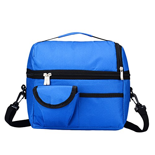 Lunch Bag Hoopper Insulated Lunch Box Picnic Cooler Tote Shoulder Strap Multiple - Lunch Lid Velcro Bag