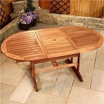 Amazon De Billyoh Gartentisch Oval Holz Ausziehbar 1 3 1 8 M