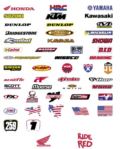 FACTORY EFFEX HONDA LOGO STICKER 5-PACK ()
