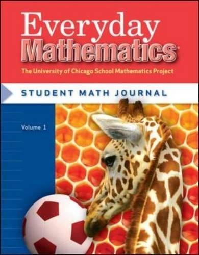 Everyday Mathematics, Grade 1, Student Math Journal 1