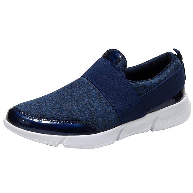 Naturazy Calzado De Trabajo para Comodas Mocasines Casuales De Malla Zapatos Planos Transpirables Zapatos Corrientes Suaves Zapatos Gimnasia: Amazon.es: ...