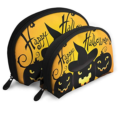 SUNGTER Staying Spooky Happy and Healthy On Halloween Multifunctional Portable Cosmetic Bag Storage Bag