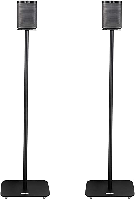 /nero 3/ Sanus altezza regolabile wireless speaker stand in one Pair per Sonos Play 1/e Play