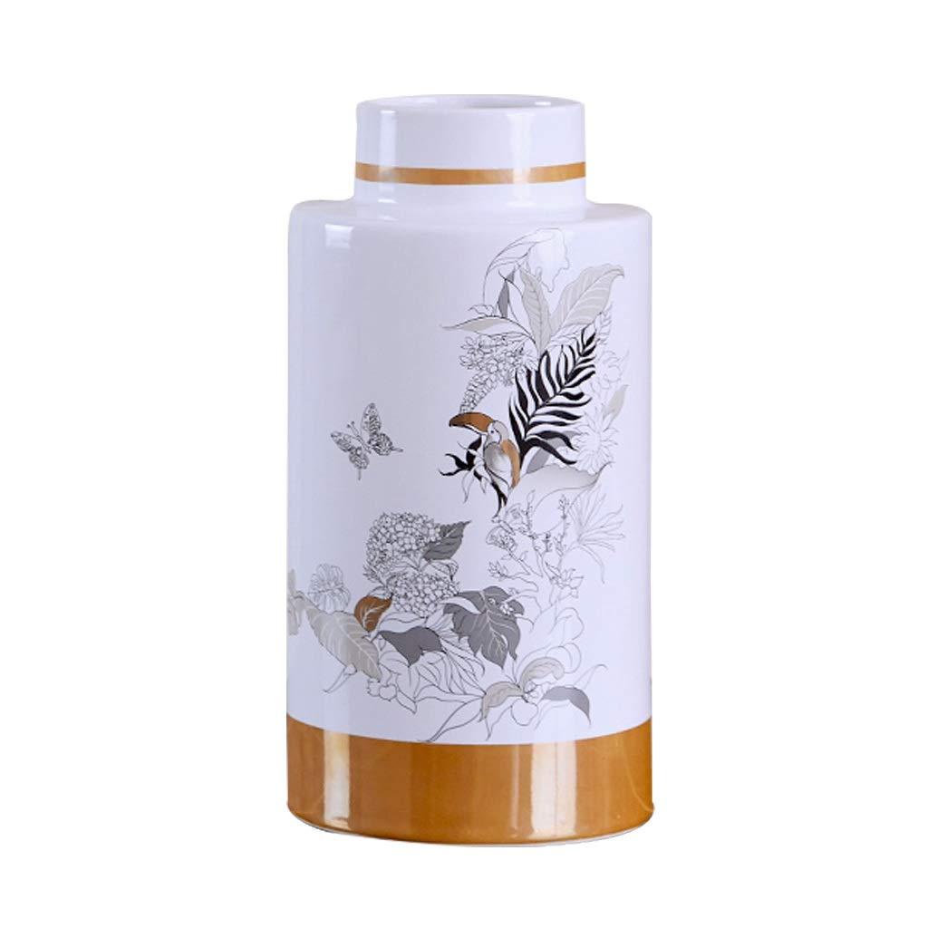 LIULIJUN 中国の現代家モデルルームセラミック花瓶リビングルームフラワーアレンジメントの装飾品 B07T7CW8VP