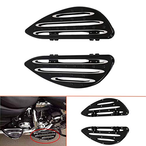 Large Front Driver Floorboards Foot Pegs Wing Footrest Footboards for Harley Touring 1984-2019,Softail FL Models 1986-2019, and Dyna FLD