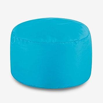 Thedecofactory 204322 Pouf, Polyester, Bleu Canard, 30 x 25 x 3 cm Vacances  de Noël de6d1f5662c