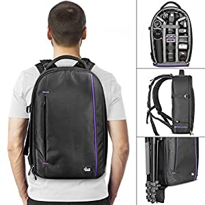247e227dec Amazon.com   DSLR Camera and Mirrorless Backpack Bag by Altura Photo ...