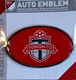 Toronto FC Raised Metal Domed Oval Color Chrome Auto Emblem Decal MLS Soccer Football Club