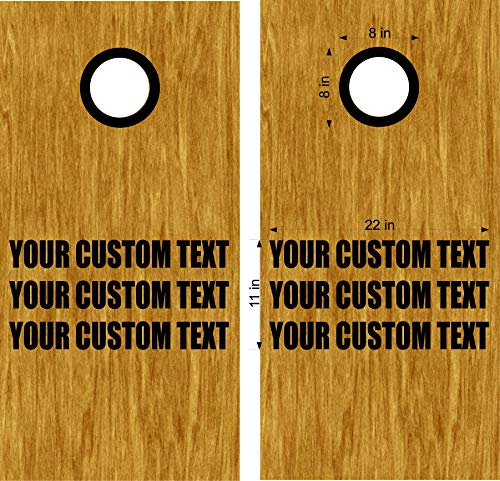 Cornhole Boards Decals Your Custom Text DIY Bean Bag Toss Stickers with Rings]()