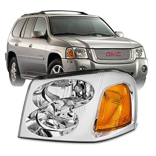For GMC Envoy/Envoy XL/Envoy XUV OE Style Chrome Housing Driver Left Side Headlight Lamp