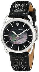 Klaus Kobec Women's KK-10010-01 Evelyn Analog Display Japanese Quartz Black Watch
