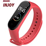 injoy Sports Soft Silicone Replacement Wristband Wrist Strap for Xiaomi Mi Band 4 red