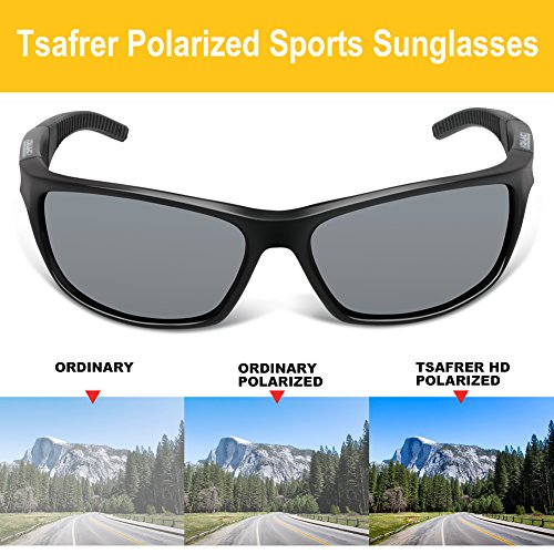 35227fd698f Tsafrer Unisex Polarized Sports Sunglasses for Men Women - Import It All