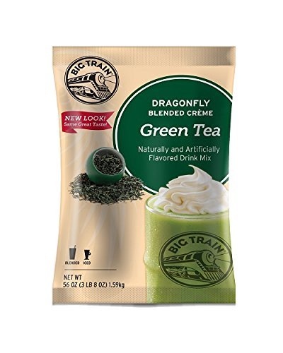 - Big Train Dragonfly Blended Crème Frappe Mix Green Tea 3.5 Pound Bag