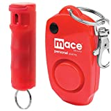 Mace Brand Ultimate Protection Package Featuring Mace Brand Keyguard Pepper Spray and Mace Brand 130dB Personal Alarm (Mace Protection Kit) (Red Pepper Spray with Red Alarm)