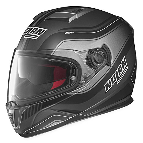 Nolan N-86 Deep Non N-Com Helmet, Distinct Name: Flat Lava/Black, Gender: Mens/Unisex, Helmet Category: Street, Helmet Type: Full-face Helmets, Primary Color: Black, Size: XS N8R5273310197
