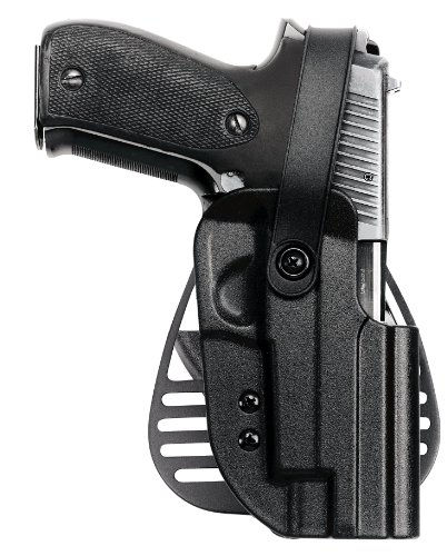 Uncle Mike's Kydex Off-Duty and Concealment Hip Holster with PBA Thumb Break (Black, Size 12, Right Hand) (Kydex Holster Concealment Paddle)