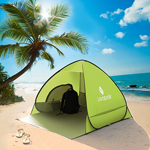 Leapair Sun Shelter Tent Instant Easy Pop Up Beach Umbrella Sport Automatic Instant Portable Outdoors Quick Beach Tents Green