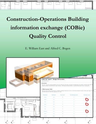 Construction-Operation Building information exchange (COBie) Quality Control