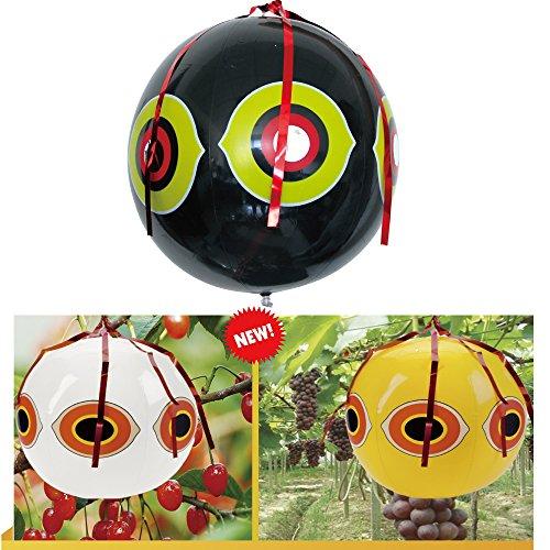 Bird Repellent Predator Eyes Balloons, Bird Scarer Pest Bird Resistance Tools Gear Pest Control, Pack of 3 (Balloon Scare Eye)