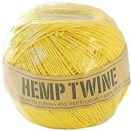 Toner Hemp Cord 20# 400\'-Pack-Yellow