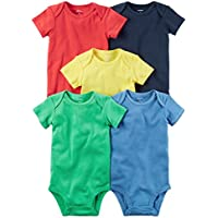 Carter's Baby Boys 5-Pack Short-Sleeve Original Bodysuits (Bright Solid)