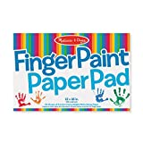 12 x 18 Finger Paint Pad - 50 sheets of premium heavy weight white glossy paper