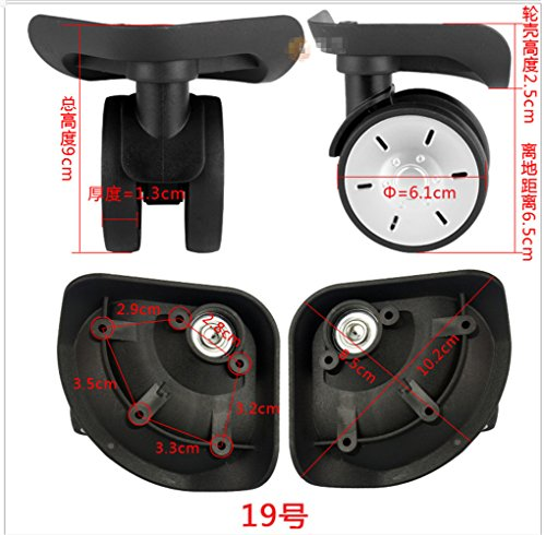 A pair /set Spinner Mute wheels for wheels for suitcases NO.19# (YongFeng) DIY Replacement Luggage Wheels Draw bar box Parts by Liaozy888