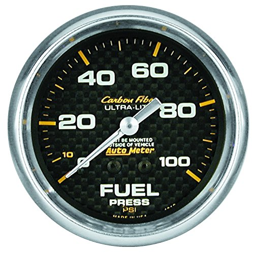 Fiber Water Carbon Mechanical (Auto Meter 4812 Carbon Fiber Mechanical Fuel Pressure Gauge)