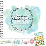 THE PERFECT HONEYMOON GIFT - Honeymoon Photo Album and Adventure Journal | Includes Matching Card and Emoji Stickers | Perfect memory book for the best trip of your life