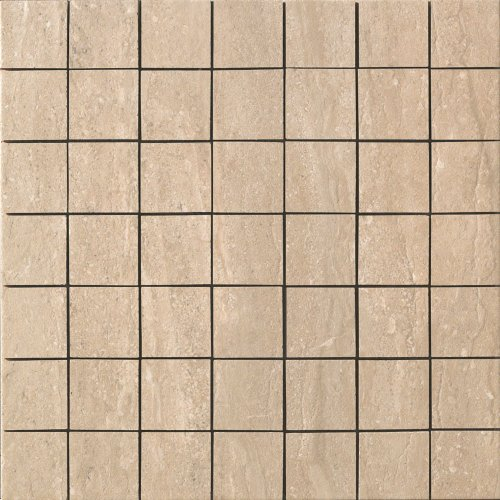 Noce Tile Wall - Samson 1043045 Travertini Matte 2X2 Mosaic Floor and Wall Tile, 16.75X16.75-Inch, Noce, 1-Piece