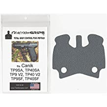 Gray Tractiongrips grip tape overlay for Canik TP9SA, TP9SF, TP9V2