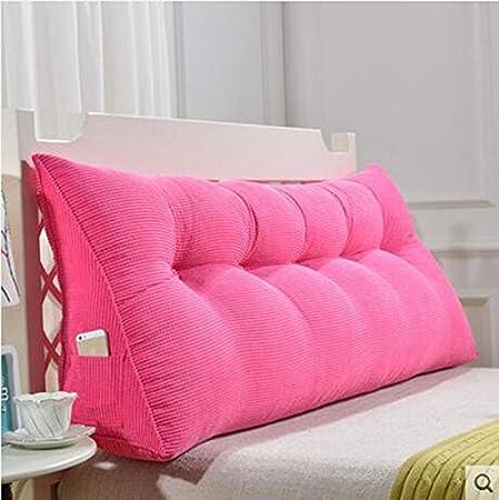Respaldo De Cabecera Cojín, Cojines de triángulo, Almohada grande de la cama, Paquete suave de la cama doble, Cojín de la parte posterior de la cama, ...