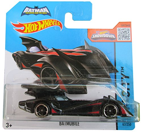 Hot Wheels HW City 63/250 Batman Brave and Bold Batmobile Black and Red on Short Card