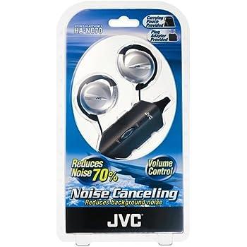d2098ff2c79 JVC HA-NC70 Noise Cancelling Ear Clip Stereo L Shaped 3.5 mm Headphones  with Mini