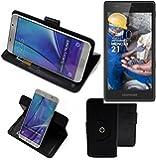 Case 360° Cover pour Smartphone Fairphone Fairphone 2, noir   Fonction Stand Case Wallet BookStyle meilleur prix, la meilleure performance - K-S-Trade (TM)
