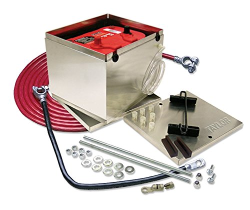 taylor (48203 200 Series Aluminum Battery Box with 1-GA Cable (Series Battery 200)