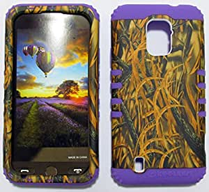 ZTE SOURCE CASE CAMO GRASS LP-WFL032 HEAVY DUTY HIGH IMPACT HYBRID COVER LIGHT PURPLE SILICONE SKIN N9511
