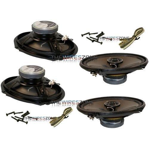"Pioneer TS-G6844R G Series 2-Way 800 Watt 6"" x 8"" Coaxial Car Speaker (2 pairs)"