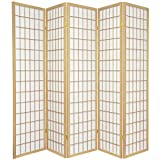 Coaster Oriental Style Room Screen 5 Panel Natural