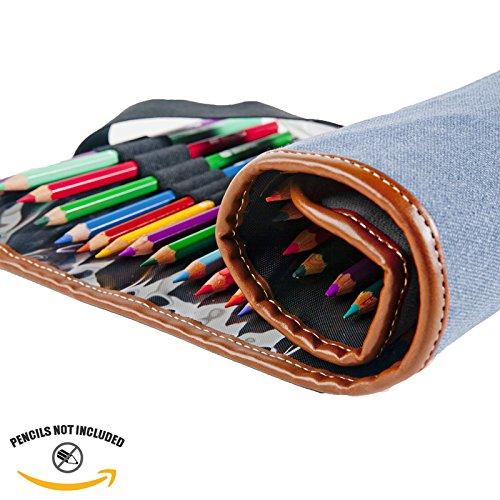 Denim Global Art Materials Canvas Pencil Roll-Up