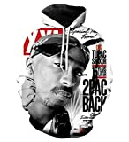 Catamaran Tupac 2pac Hoodies 3D Sweat Shirt Hip Hop Hooded Tracksuit Plus Size Outfits Pullovers Sweatshirt