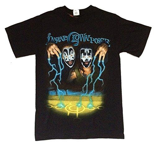 Insane Clown Posse Storm Lightning Shaggy Violent J Black T Shirt - Posse Insane Face Clown